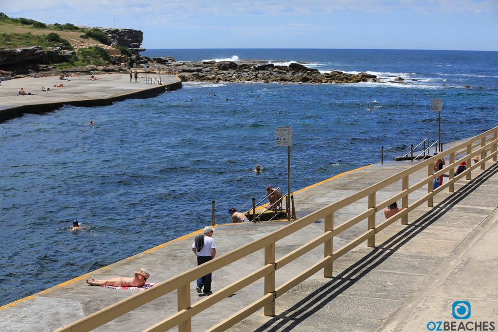 Sunbathing and swimming are popular at Clovelly Beach