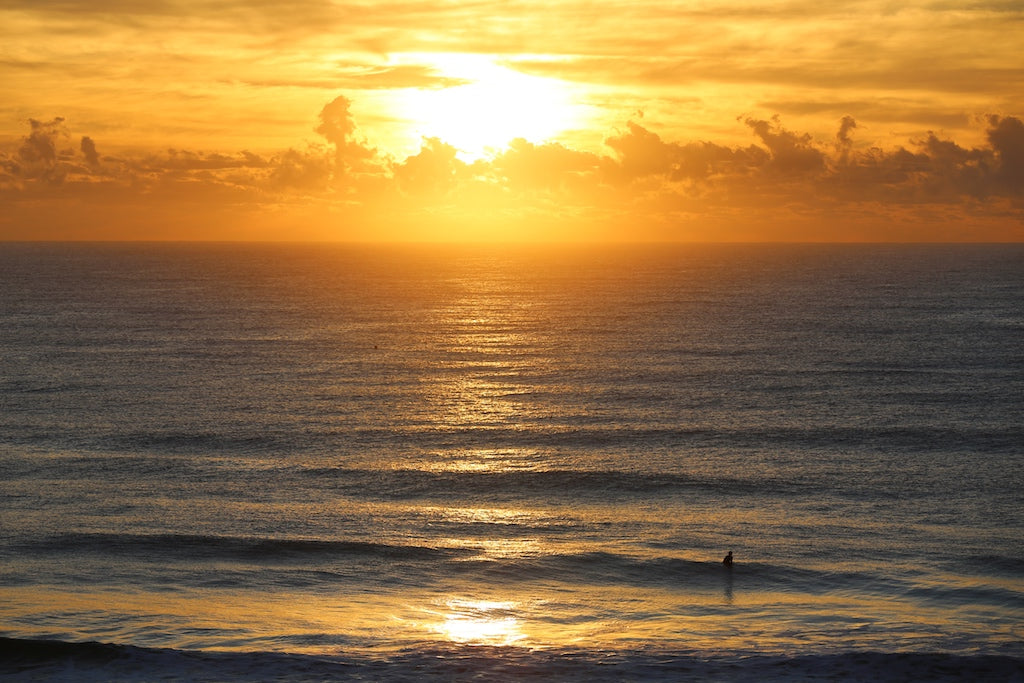 Bright sunrise at Coolum Beach Sunshine Coast QLD