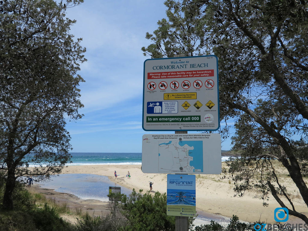 Cormorant Beach, popular with families and locals
