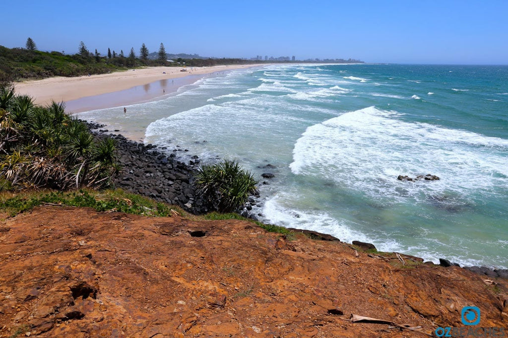 Looking north along Fingal Beach towards Letitia Spit