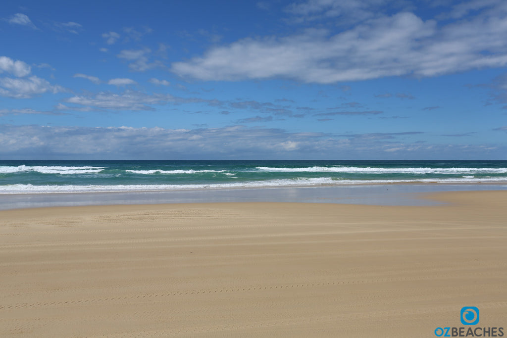 Empty beach at Fraser Island QLD