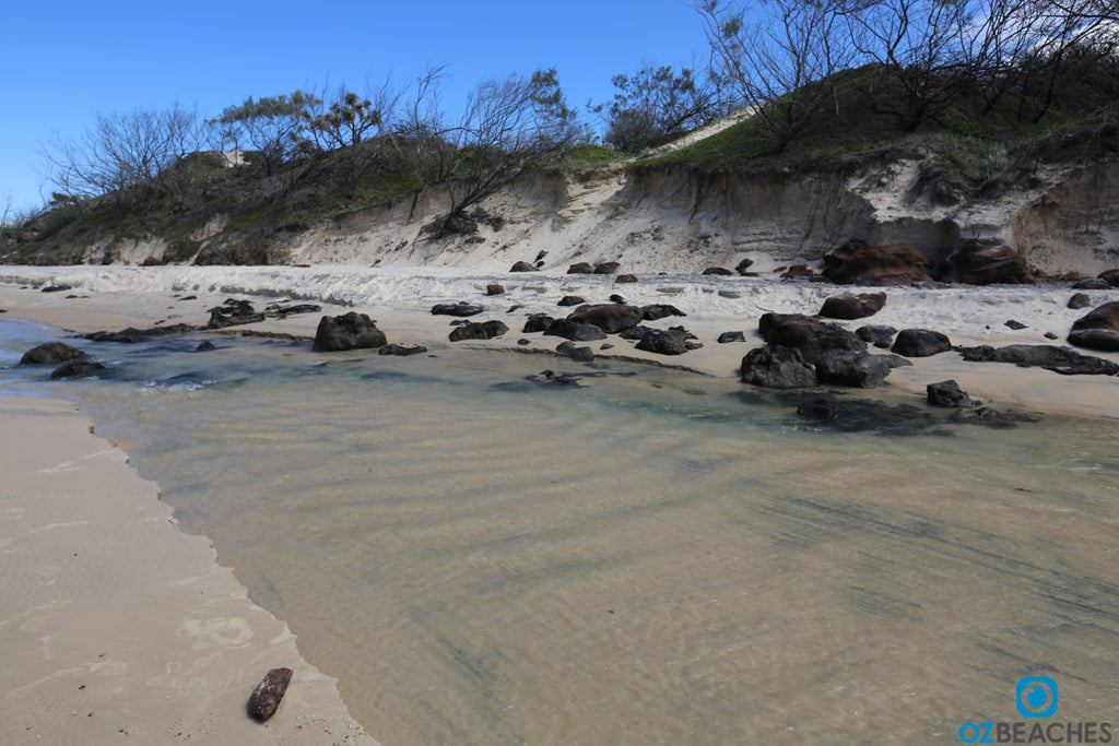 Eli Creek on Fraser Island is popular for families with kids for safe swimming
