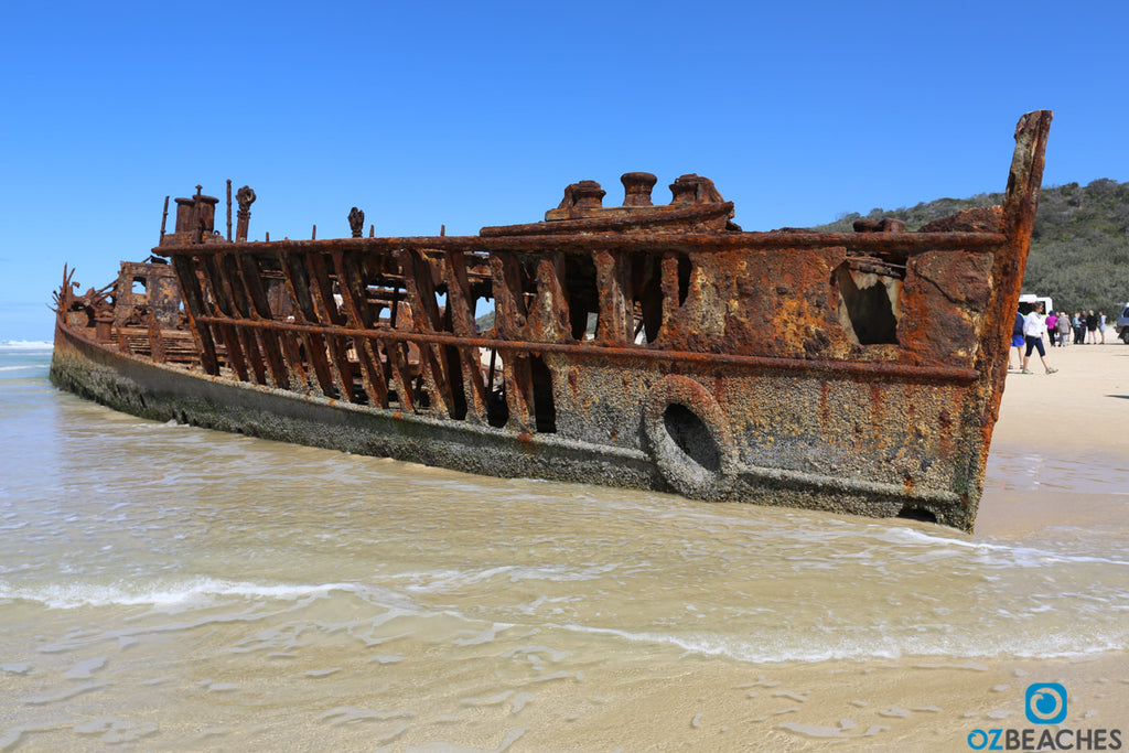 The SS Maheno on Fraser Island up close and personal