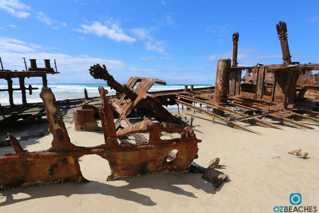 Shipwreck of the SS Maheno on Fraser Island rumoured to be used as aerial target bombing practise