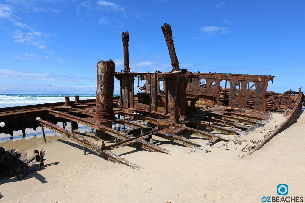 Mid section of the wreck of the SS Maheno on Fraser Island