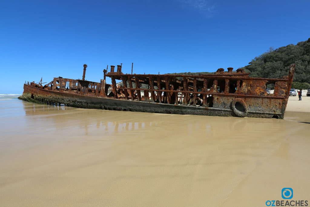 Shipwreck of the SS Maheno on Fraser Island standing strong in the face of adversity