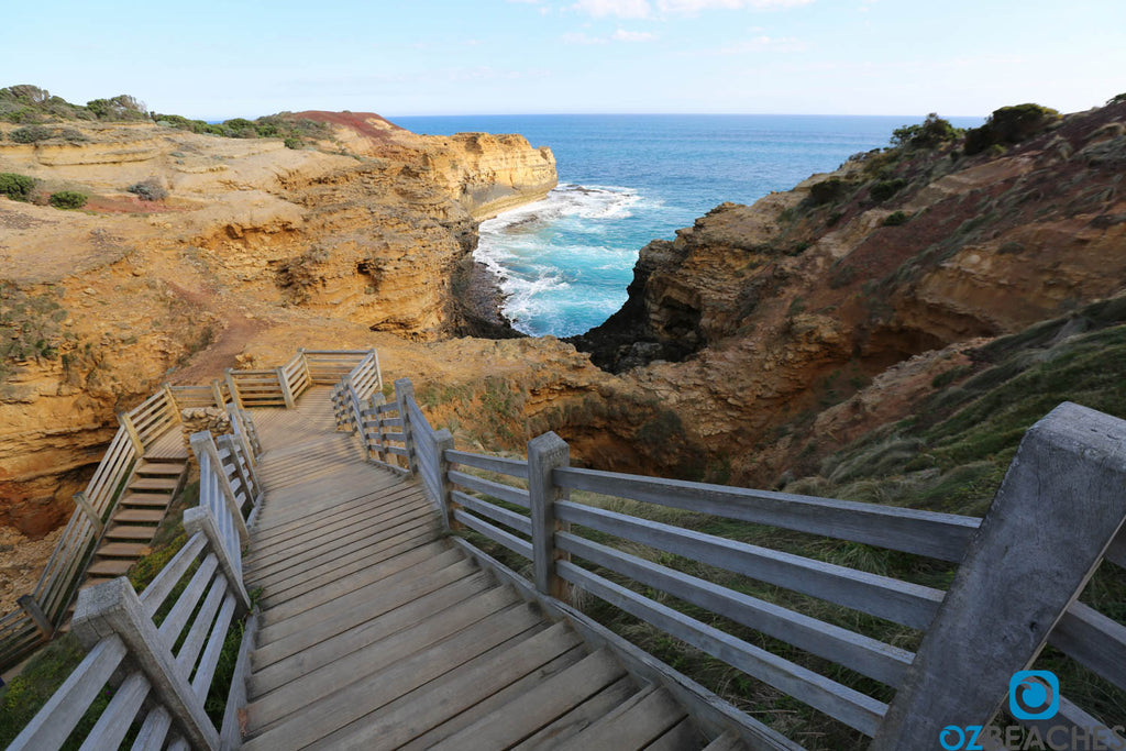 Staircase leading to The Grotto, Great Ocean Road Victoria