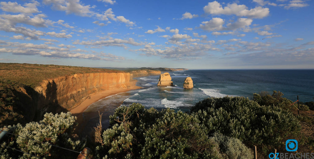 Looking east from the main lookout at The Twelve Apostles