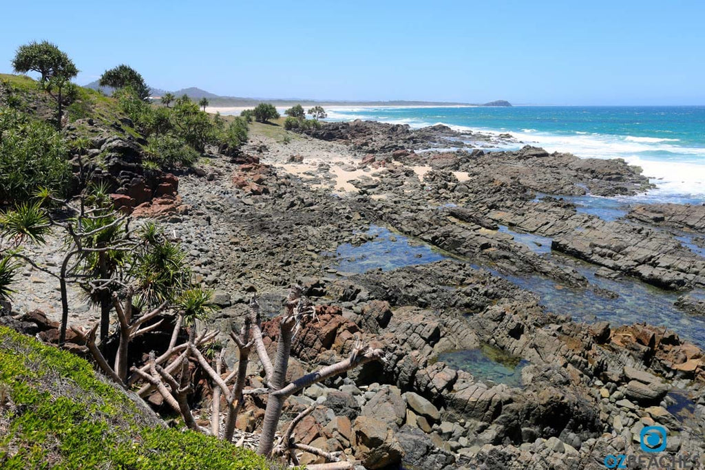 Looking north towards Norries Head from Hastings Point NSW