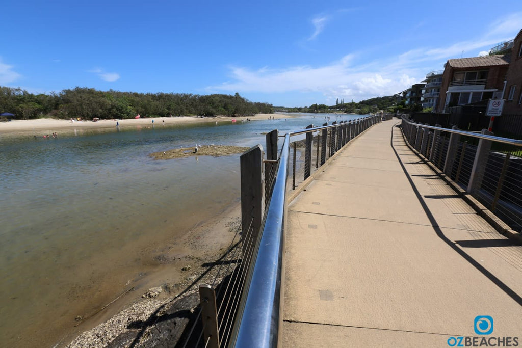 The boardwalk at Kingscliff Beach rivermouth