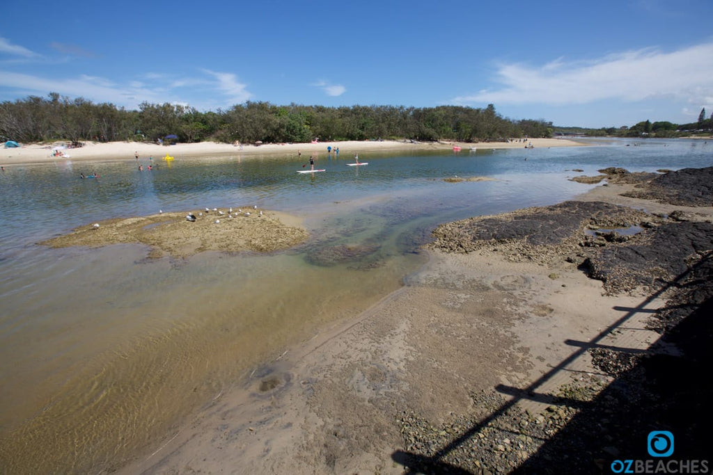Tidal river at Kingscliff Beach
