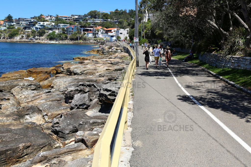 The Manly promenade is a popular walk for thousands of people each day
