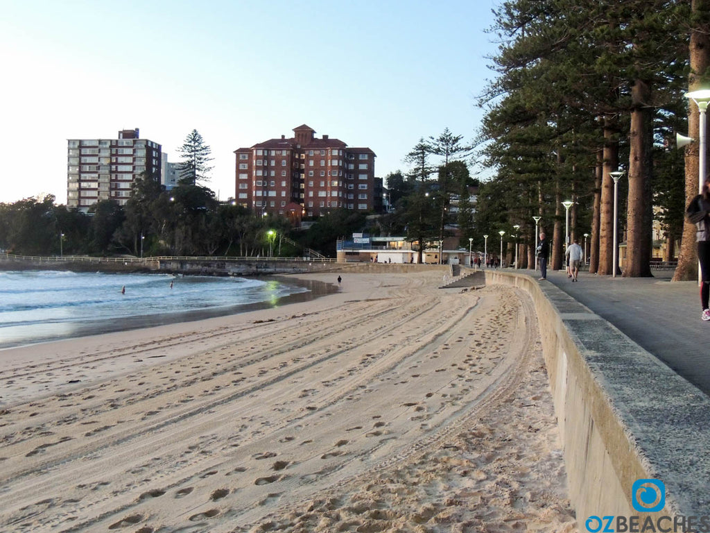 Early morning emptiness at Manly Beach