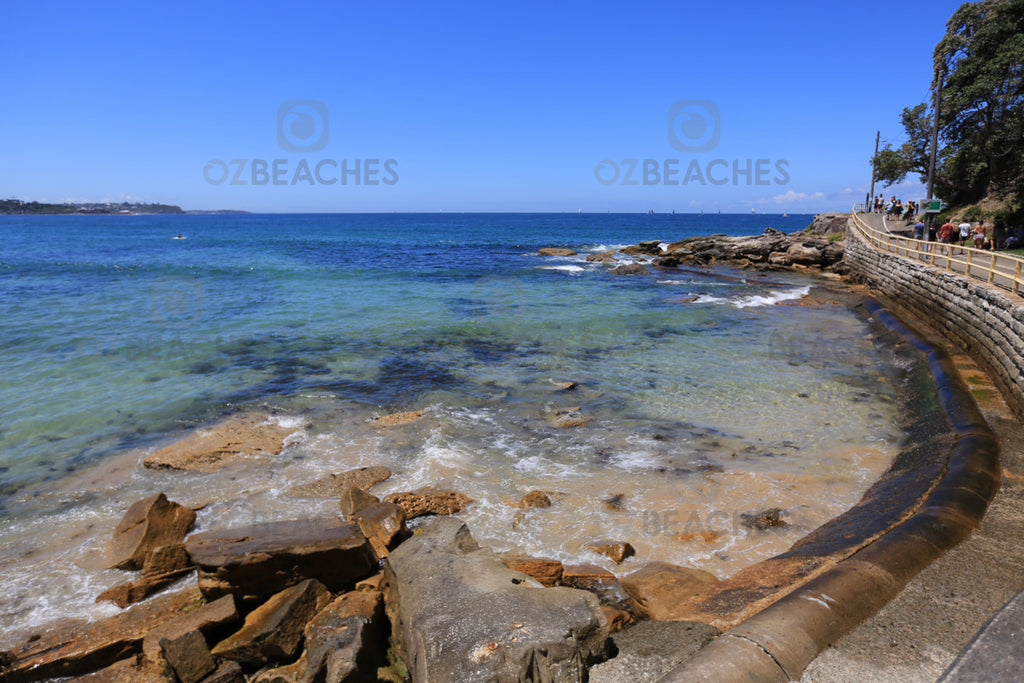 The southern corner of Manly Beach