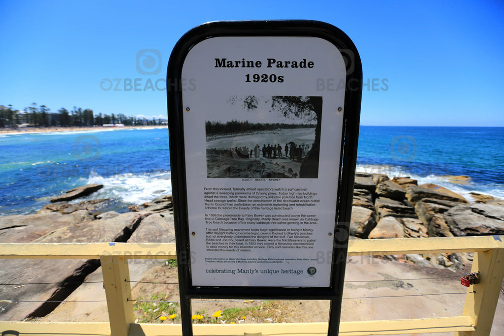 Marine Parade sign circa 1920's