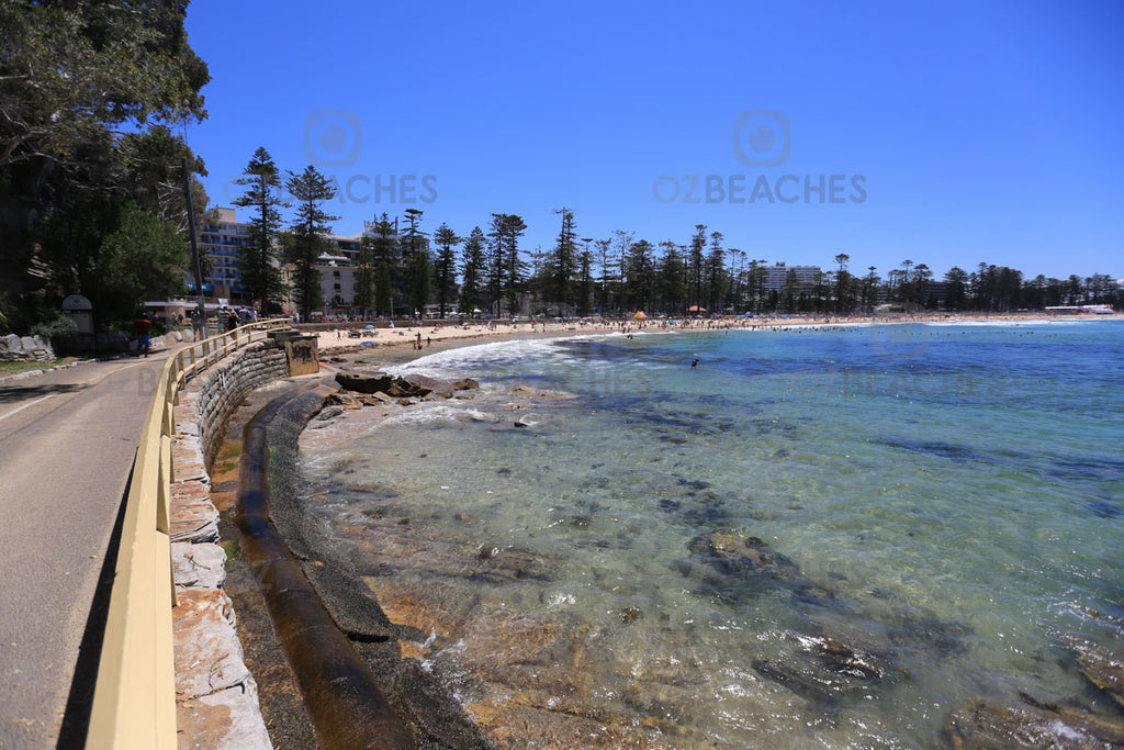 Looking west along Manly Beach