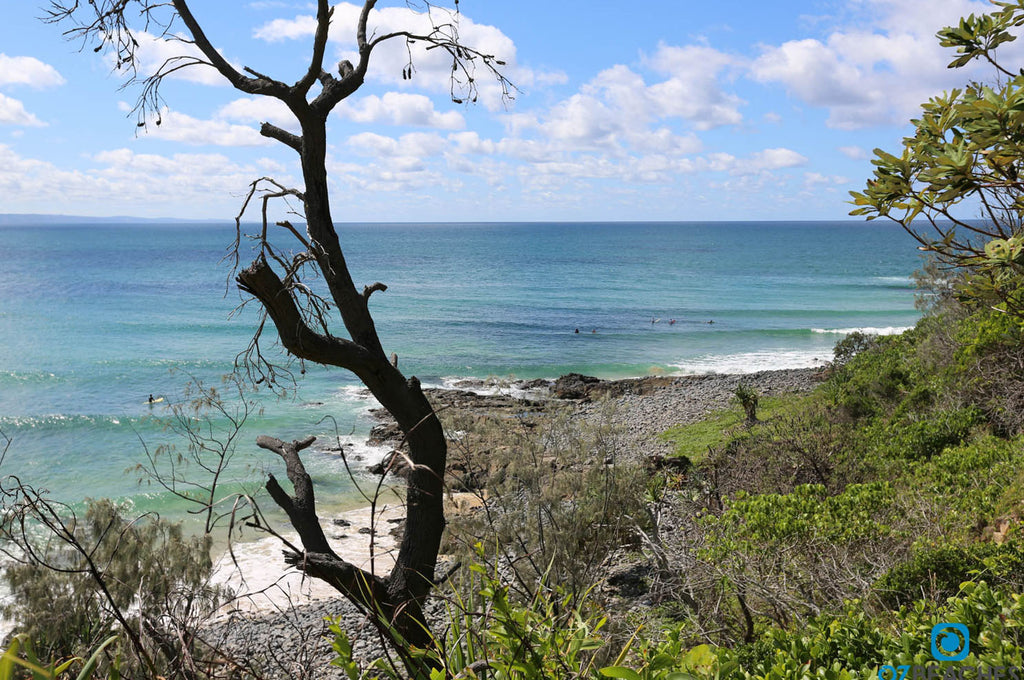 Surfers out at Picnic Cove, Noosa Heads National Park QLD