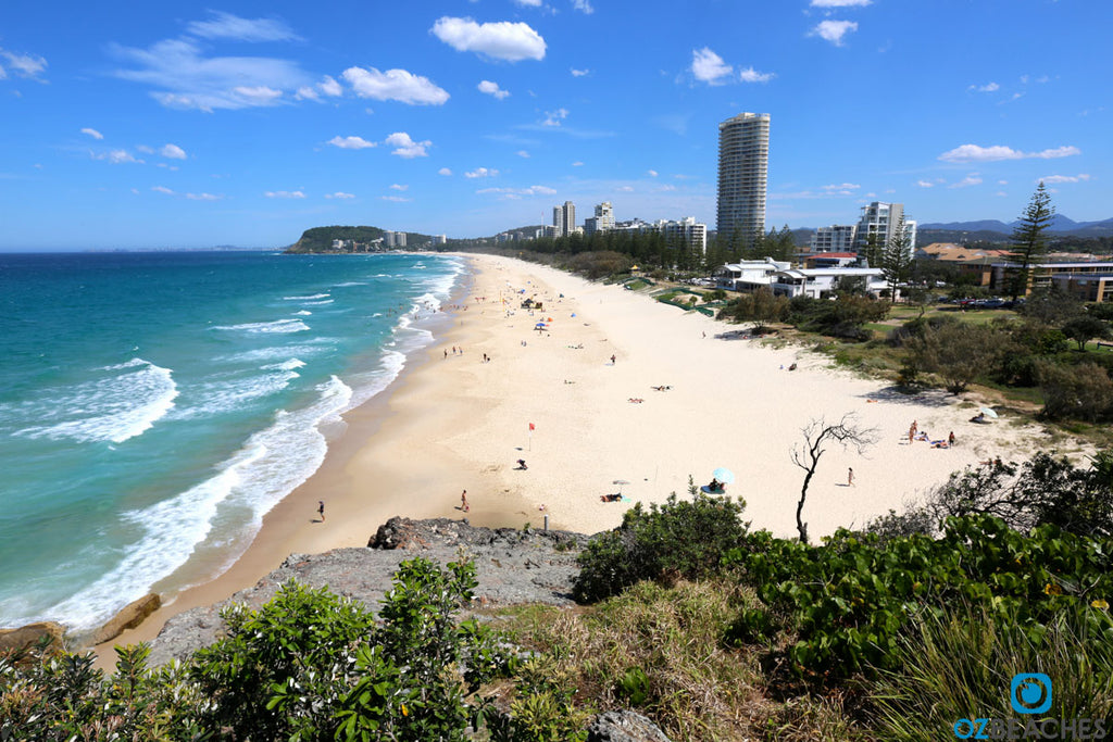 Looking south towards Burleigh Heads from North Burleigh Beach