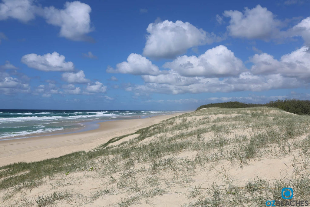 Uncrowded beaches are common on North Stradbroke Island