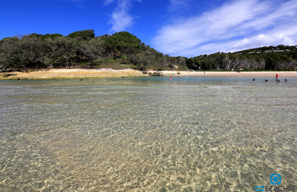 The Perfect crystal waters of Cylinder Beach on North Stradbroke Island are very inviting