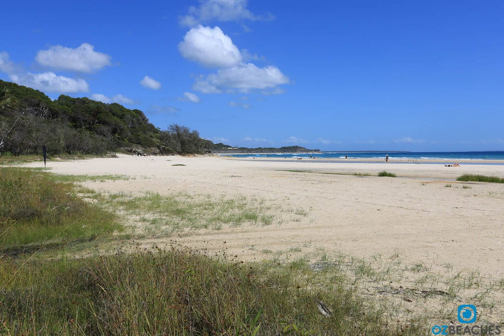 Cylinder Beach on North Stradbroke Island is rarely uncrowded during holiday periods