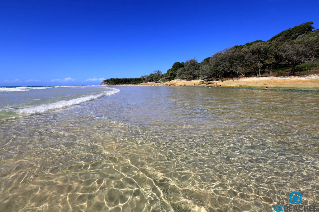 The Perfect crystal waters of Cylinder Beach on North Stradbroke Island