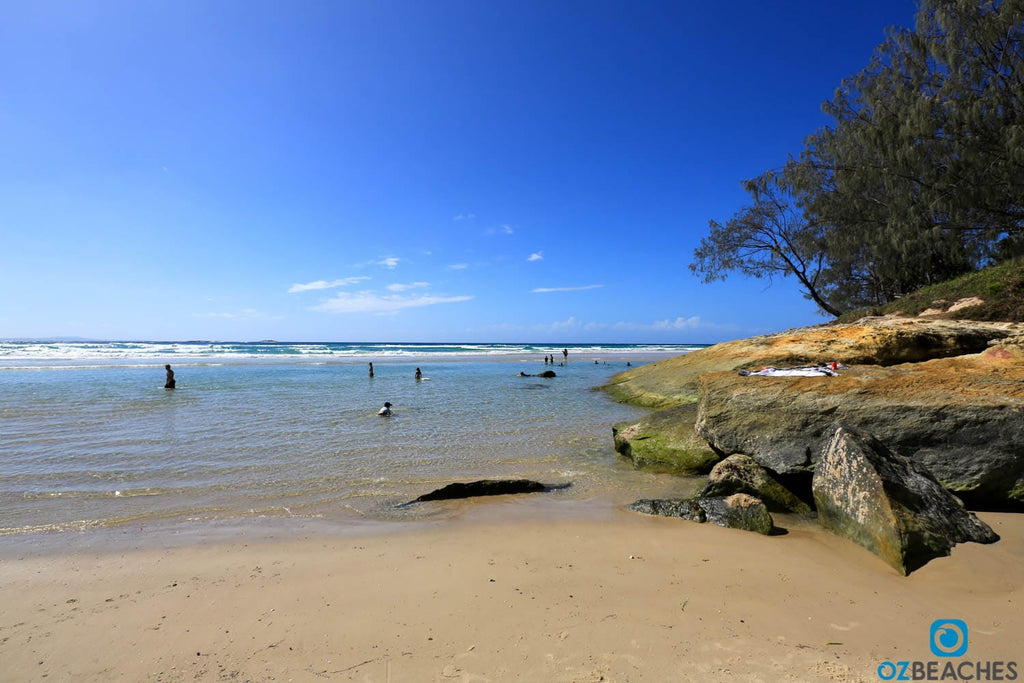 Not a bad spot for a swim, Cylinder Beach on North Stradbroke Island QLD