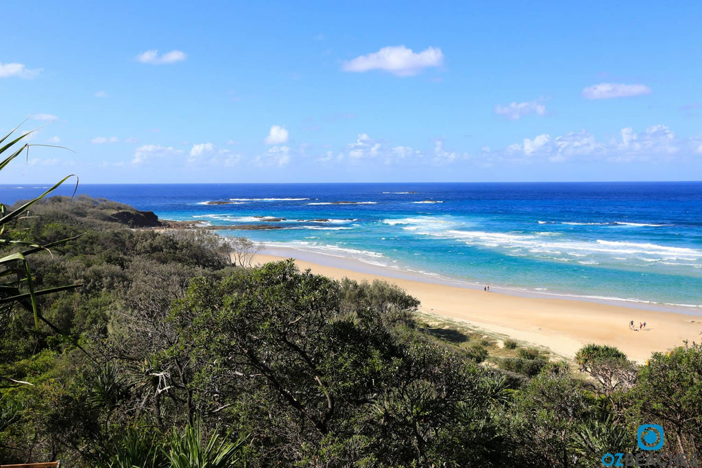 Aerial photo of Frenchmans Beach on North Stradbroke Island