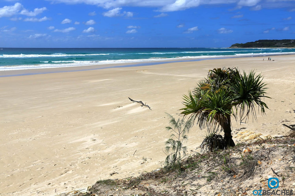 Uncrowded day at Home Beach on North Stradbroke Island QLD