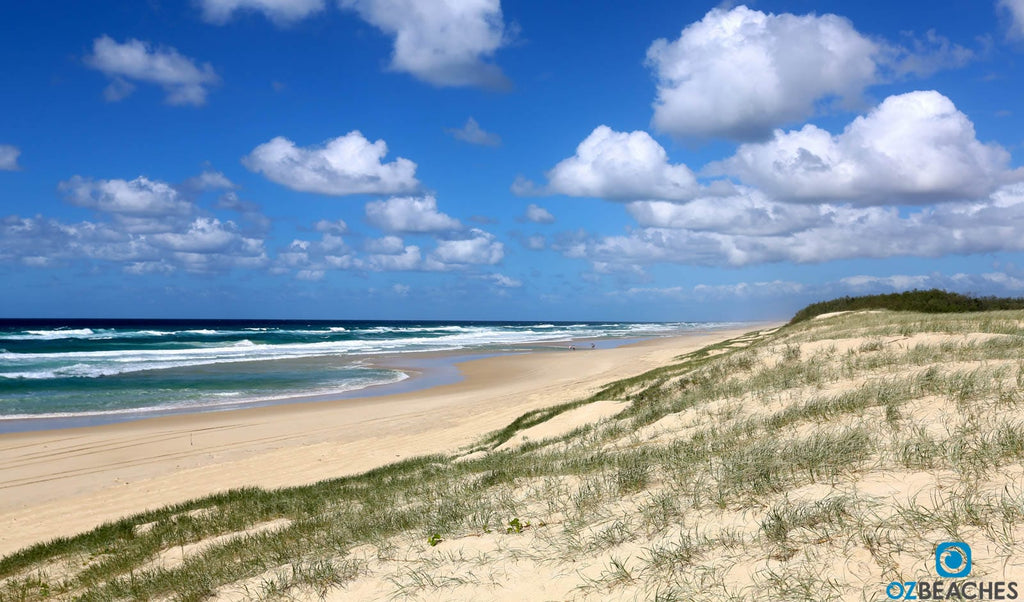 Beautiful beaches are the norm on North Stradbroke Island
