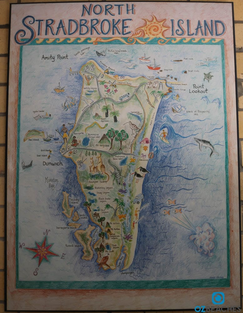 Map of North Stradbroke Island