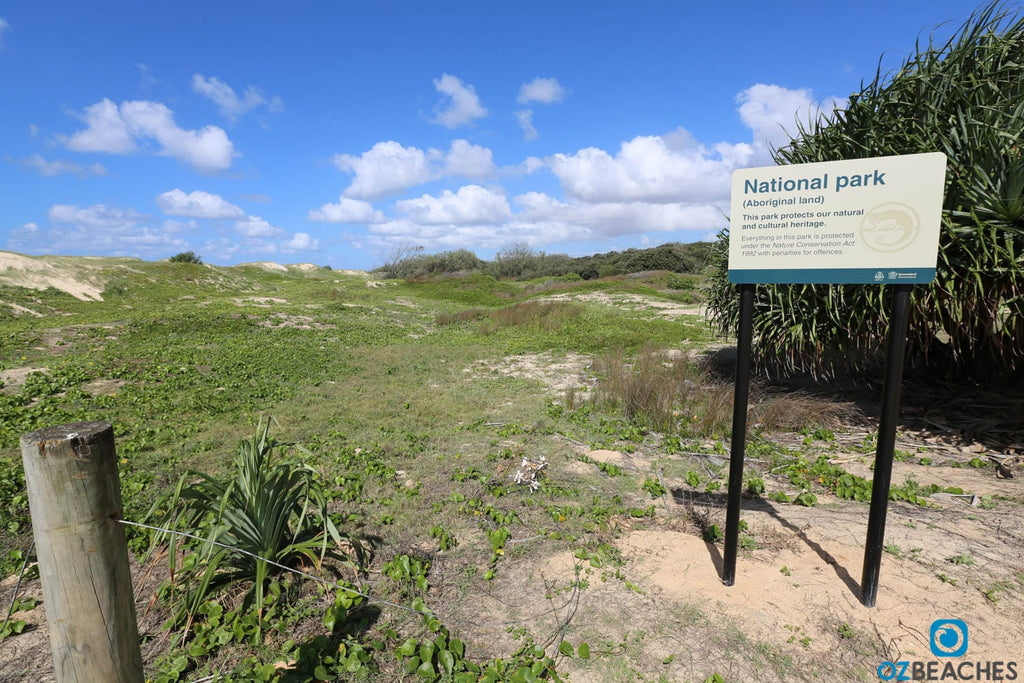 National Park sign on North Stradbroke Island