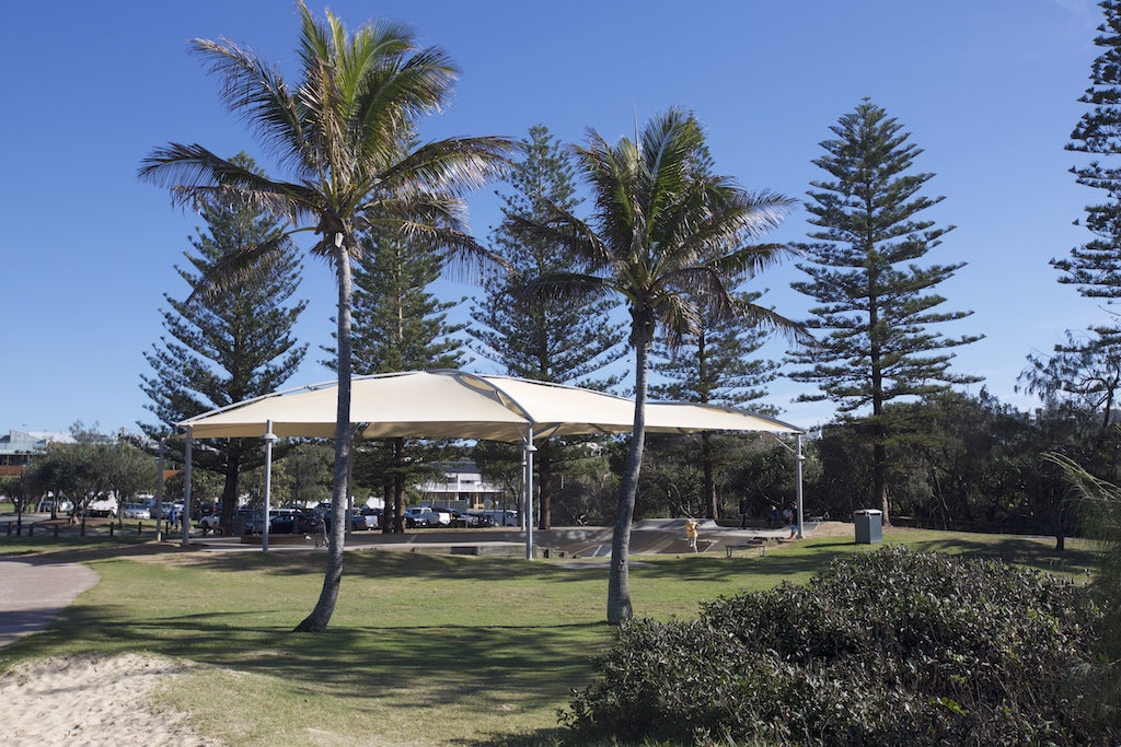 The beachside skate park at Peregian Beach
