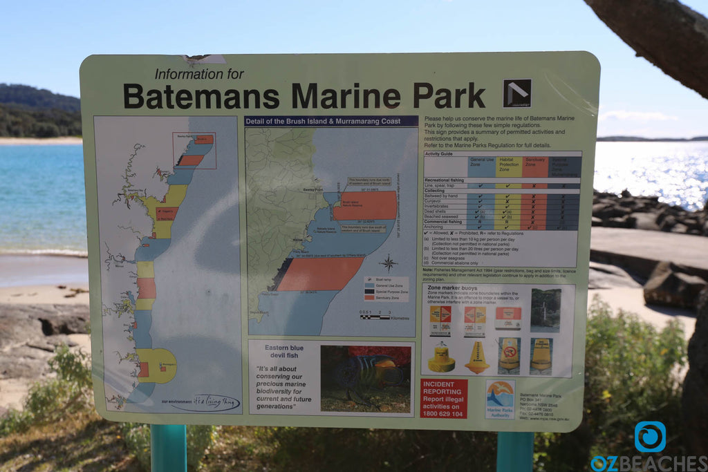 These marine park signs are all over the Murramarang region