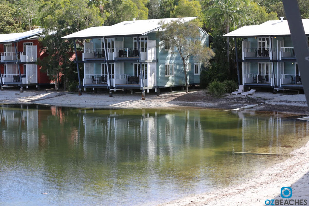 Typical accommodation cabins at Couran Cove on South Stradbroke Island