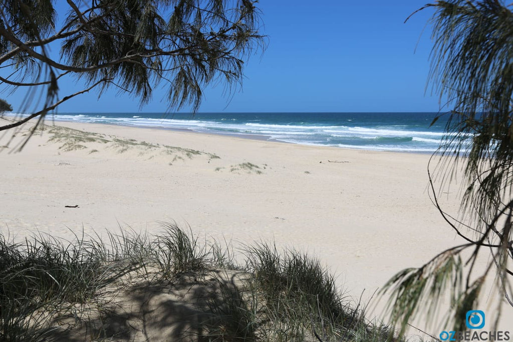 Empty beaches are common on South Stradbroke Island