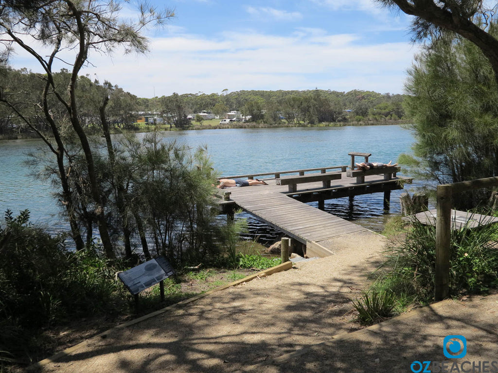 A quiet jetty at Tabourie Lake
