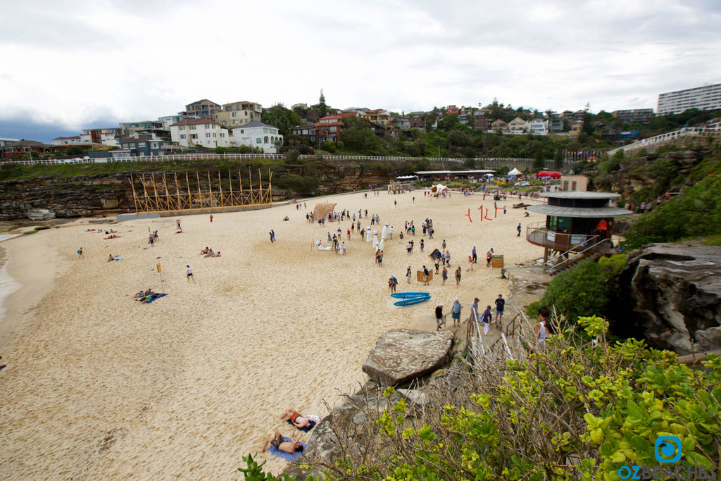 Getting ready for the annual 'Sculptures By The Sea' festival at Tamarama Beach