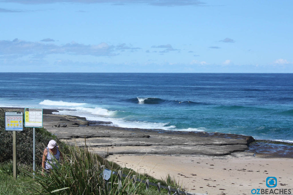 Looking north from Racecourse Beach Ulladulla NSW to a popular surf spot