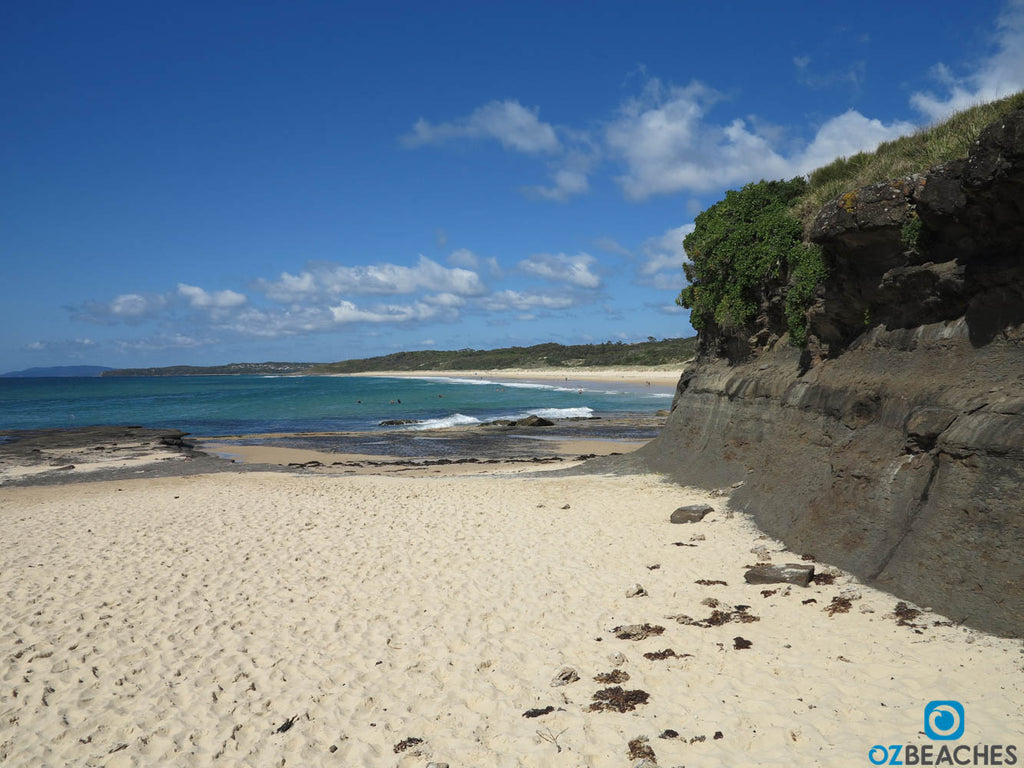 Northern end of Racecourse Beach, Uladulla NSW, is good for uncrowded waves
