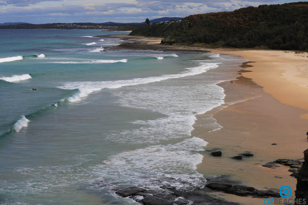Rennies Beach at Ulladulla in NSW is the place to check for waves when everywhere else's flat