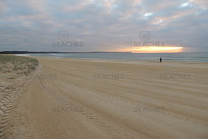 Photograph of sunrise on Blacksmiths Beach on the Central Coast of NSW.