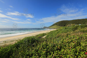 Photograph of a clear sunny day at Blueys Beach on the NSW mid north coast.