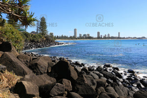 A photograph from the walkway facing west at Burleigh Heads National Park on the Gold Coast in QLD.