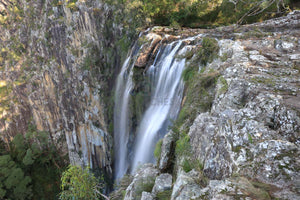 A photograph of the waterfall at Minyon Falls in Nightcap National Park NSW.