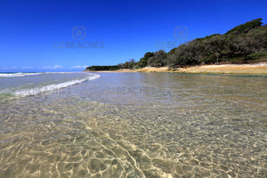 Photograph of the crystal clear waters of Cylinder Beach, North Stradbroke Island QLD
