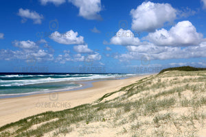 Photograph of a clear sunny day at Main Beach, Point Lookout on North Stradbroke Island QLD
