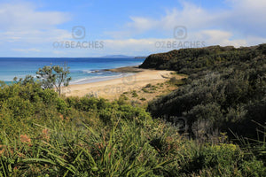 Photograph of a sunny, uncrowded day at Rennies Beach, Ulladulla NSW