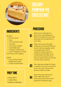 Pumpkin Pie Cheesecake Recipe