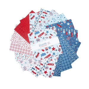 "Fireworks & Freedom // Precuts 5"" Charm Stacker"